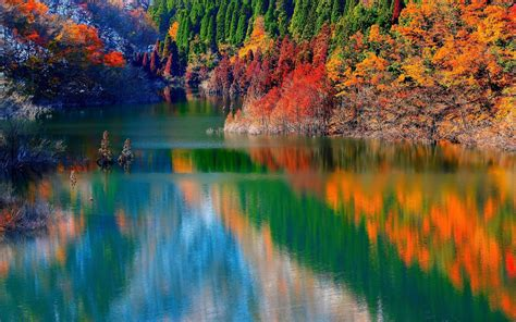 Autumn Lake Wallpapers by Wallpapers Autumn Lake Forest 645291 2560x1600