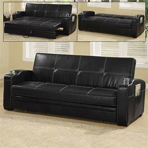 coaster fine furniture 300132 vinyl sofa bed atg stores With vinyl sofa bed