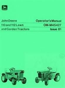 John Deere 110 112 Lawn Tractor Operators Manual Jd