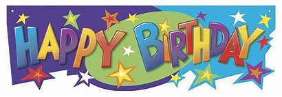 Birthday Happy Banner Clipart Clip Sign April