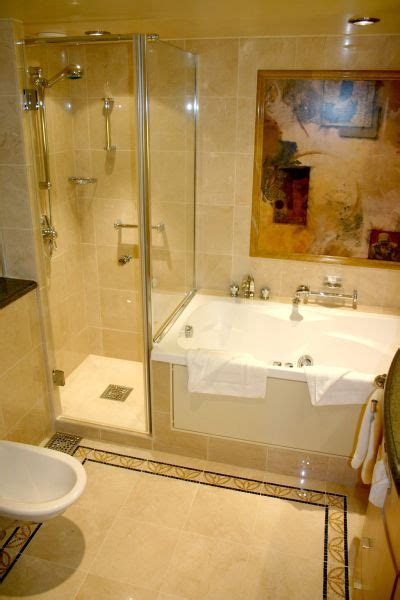 Spa Tubs For Small Bathrooms by Spa Tub And Shower Small Bathrooms Owner S Suite