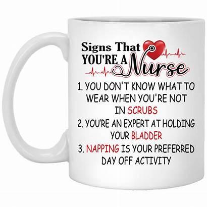 Cubebik Nurse Mug Gifts Scrubs Napping Signs
