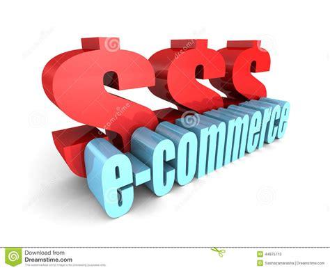 commercio valute parola di commercio elettronico con i grandi simboli di