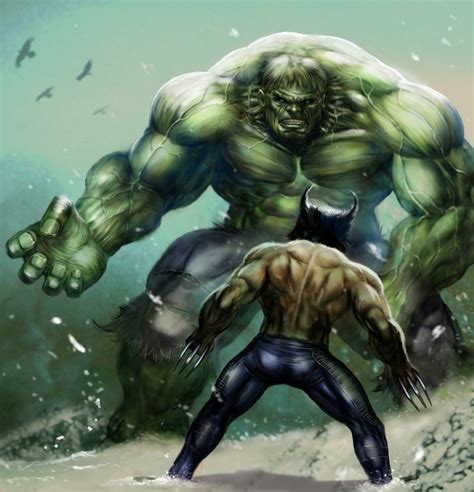 #Hulk vs #Wolverine   Wolverine comic marvel, Marvel ...