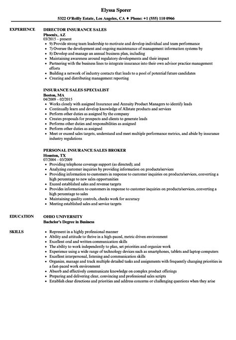 Insurance Resume by Resume For Insurance Sales Vvengelbert Nl