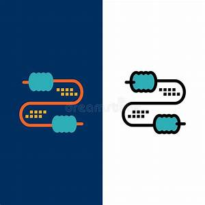 Icon Set Of Electrical Circuits  Stock Vector