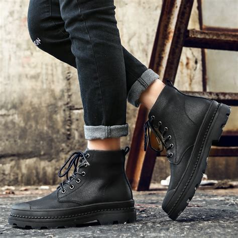 High Quality Genuine Leather Men Boots Winter Waterproof