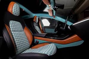 """Tesla Model 3 """"Plaid"""" Interior by Vilner Looks Like Vintage Chanel Tweed - autoevolution"""
