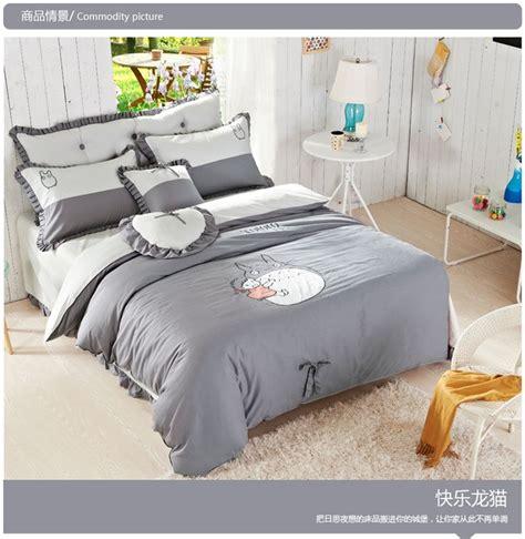 totoro bed set aliexpress com buy good quailty 100 cotton korean style totoro bed set bed sets twin queen