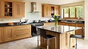 Open-plan Oak Shaker Kitchen from Harvey Jones