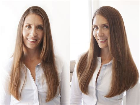 Brown To Hair Before And After Photos by Estelles Secret 100 Remy Clip In Hair Extensions In Minutes