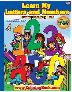 coloring books abc 123 learn my letter and numbers With letters and numbers book