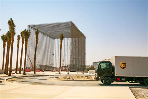 ups completes delivery  expo  dubai site entry