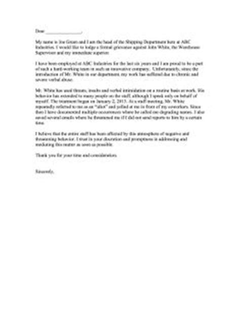 Complaint Letter to Human Resources | Credit bureaus, Workplace bullying, Lettering