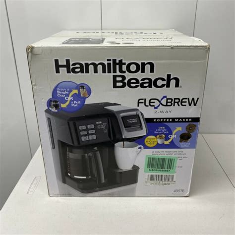Free shipping on orders over $25 shipped by amazon. Hamilton Beach FlexBrew 2-Way Coffee Maker - Black for sale online | eBay