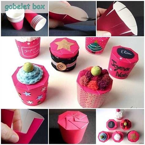 creative paper cup gift box idea
