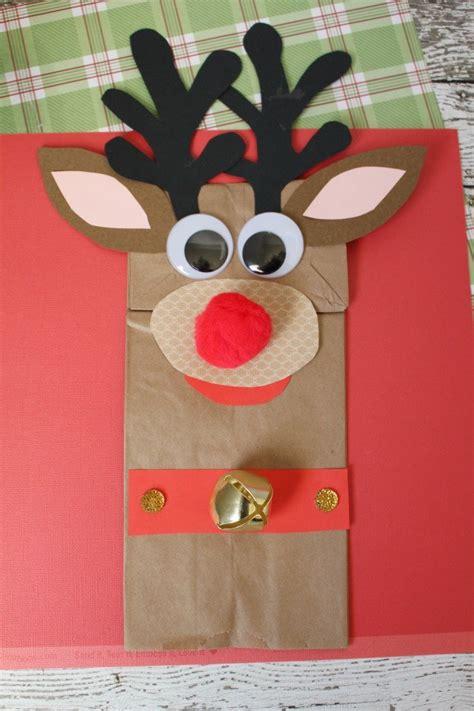 cute  simple paper bag reindeer guide patterns