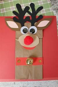 13  Cute Yet Simple Paper Bag Reindeer