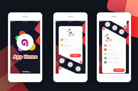 design proffessional  creative ui   mobile app