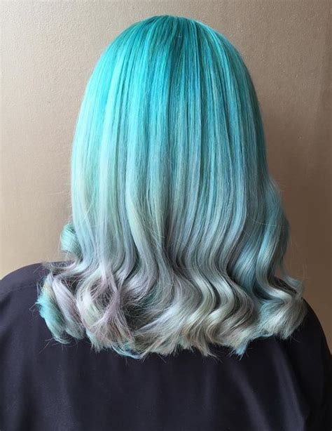 fresh teal hair color ideas  blondes  brunettes