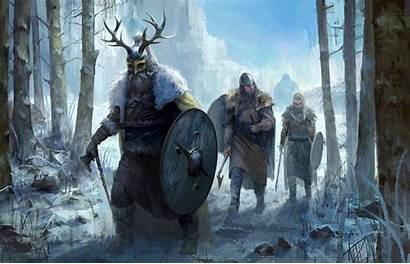 Viking Vikings Fantasy Winter Axe Battle Wallpapers