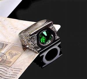cosplay mens dc green lantern austrian crystal ring With green lantern mens wedding ring