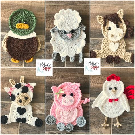 crochet pattern farm animal patterns instant
