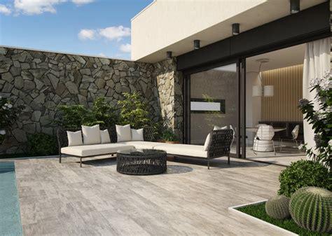 nivrem terrasse beton imitation bois deco diverses id 233 es de conception de patio en bois