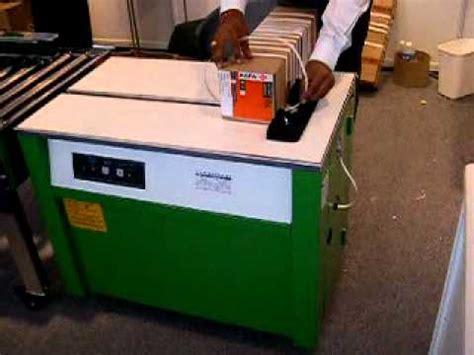 semi auto box strapping machine youtube