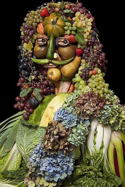 creative portraits   fruits vegetables flowers
