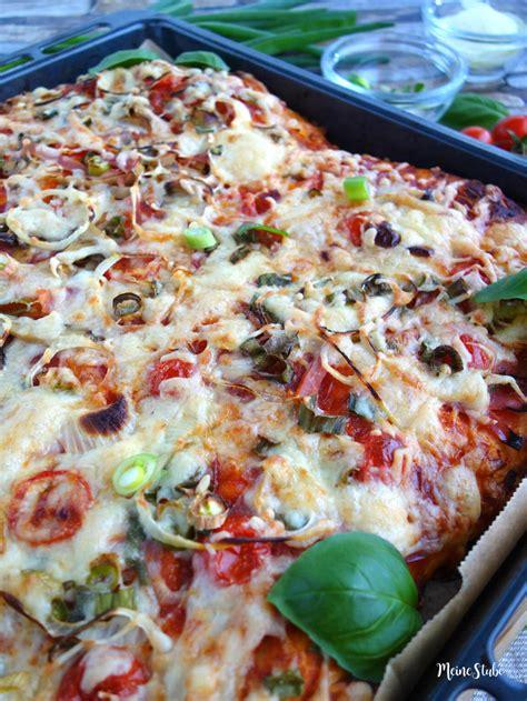 pizza selbst belegen pizza belegen ideen great low carb pizza mit frischen