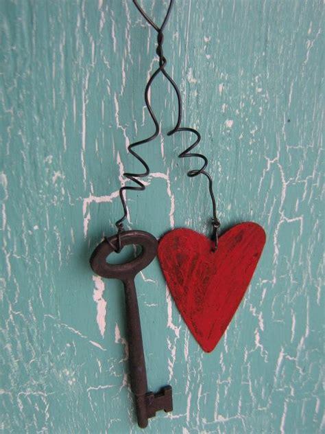 Primitive Valentine Crafts  Home Decor Primitive Rusty