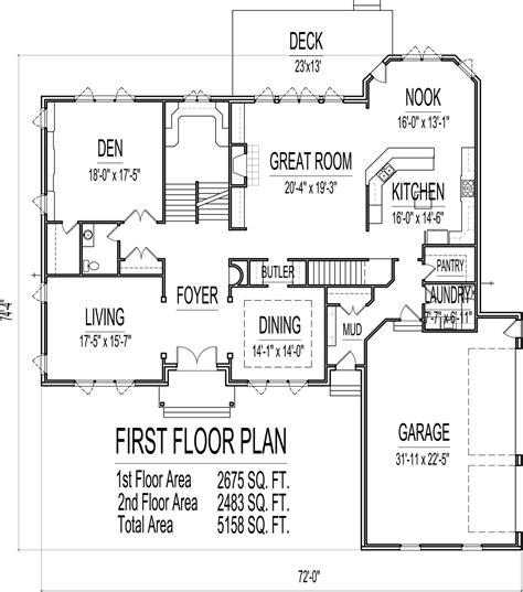 brick home floor plans 5 bedroom 2 5000 sq ft house floor plans and