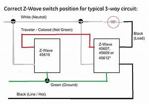 3 Way Switch Wiring Diagram For Ge Z Wave