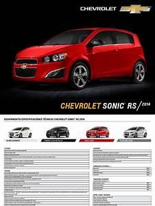 Hoja Especificaciones Sonic Rs 2014 Lr