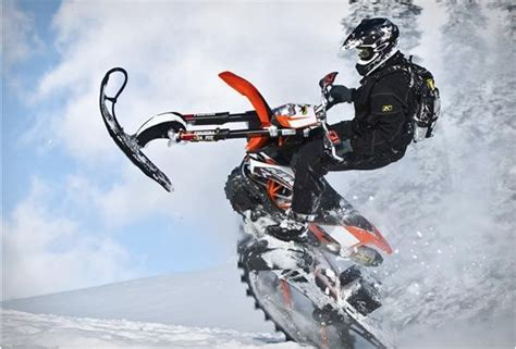 motocross snow bike dirt bike snow kit