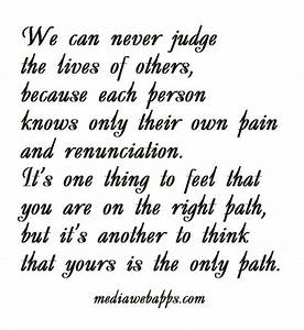 When You Judge Others Quotes. QuotesGram