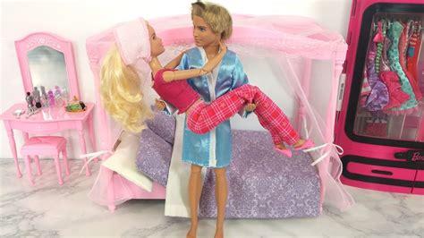 barbie  ken doll bedroom bathroom kitchen breakfast