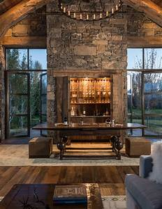 15 Distinguished Rustic Home Bar Designs For When You ...  Rustic