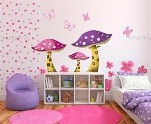 stickers chambre bebe champignons kit 1401fr With chambre bébé design avec livraison de fleurs à l étranger