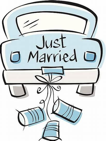 Married Hochzeit Clipart Autos Cartoon Geschenke Marriage
