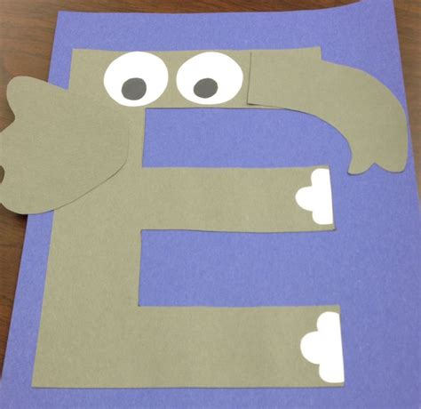 e for elephant craft e is for letter of the week 386 | 185c7accab76dd3c274fb4799cd3523b