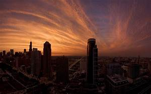 cityscape, , chicago, , sunset, wallpapers, hd, , , , desktop, and