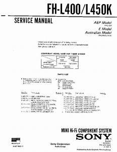 Sony Fh-l400  Fh-l450k Service Manual