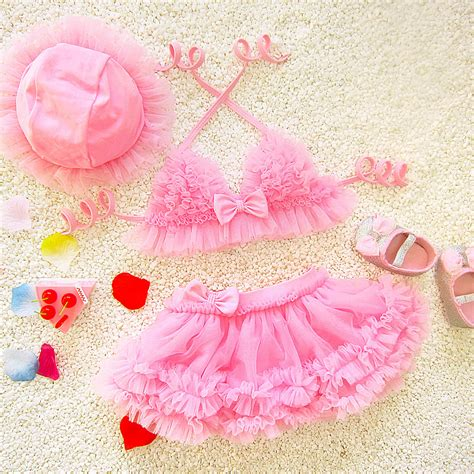 baby girls toddler kids  piece lace tutu swimskirt
