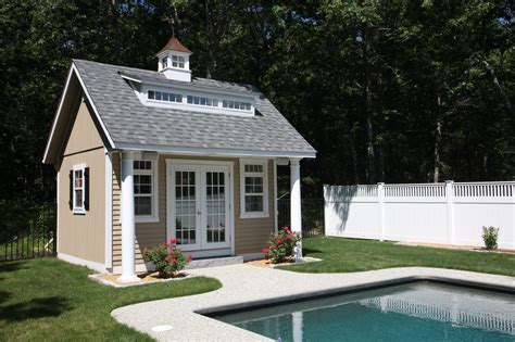 house plans with attached guest house pool houses cabanas pool sheds pool side bars