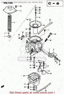 Suzuki Gs125 1983  Esd  Carburetor  Gs125esk  Esl E24
