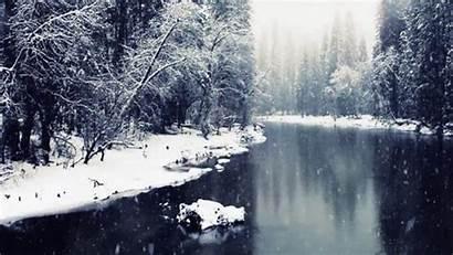 Winter Giphy Cinemagraph Gifs Break Animated Yosemite