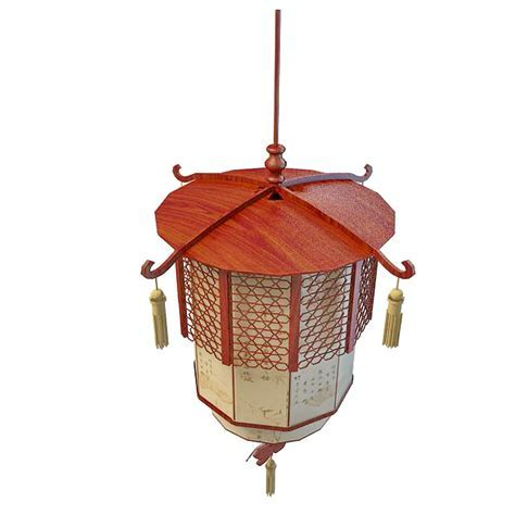 Chinese lantern pendant light 3d model 3ds max files free
