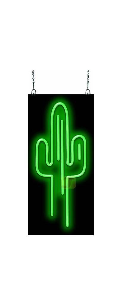 Neon Cactus Sign Gf